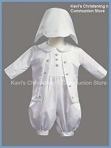 8770 Boys Christening Baptism Satin Outfit w/Jacket