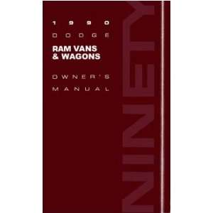 1990 DODGE RAM VAN Owners Manual User Guide Automotive
