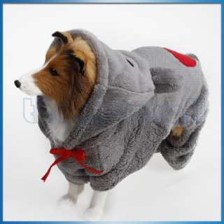 Pet Dog Jumpsuit Hoodie Baby Bear Hooded Coat Costume Outfit Apparel
