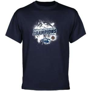NCAA Nevada Wolf Pack Navy Blue 2011 WAC Mens Basketball Champions