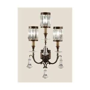 com Fine Art 583150 Rustic Iron Eaton Place Crystal Three Light Wall