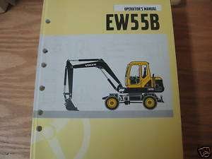 Volvo EW55B Wheeled Excavator Operators Manual