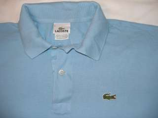 Lacoste Polo Shirt Pique Golf 2 Button Short Sleeve Mens size 6