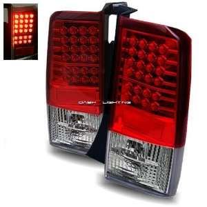 03 07 Scion xB LED Tail Lights   JDM Red Clear Automotive