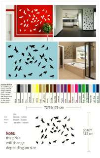 FLOCK OF BIRDS FLYING WALL ART DECAL STICKER VINYL large graphic