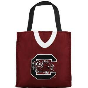 South Carolina Gamecocks Garnet Jersey Tote Bag Sports