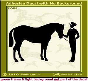 Showmanship Halter Horse Trailer Auto Decal Sticker 681