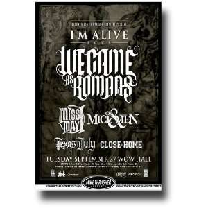 We Came As Romans Poster   Concert Flyer   Im Alive Tour