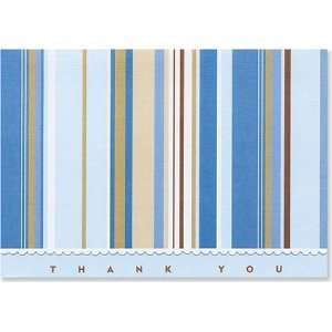 Blue Stripes Thank You Notes (Stationery, Note Cards) Peter Pauper