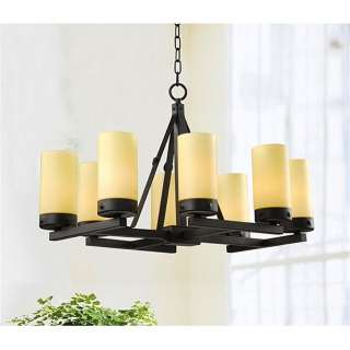 BLACK IRON RUSTIC CHANDELIER LIGHT CEILING PENDANT FIXTURE LIGHTING