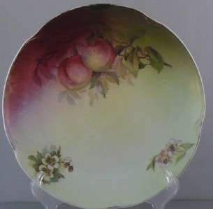 Antique Porcelain Plate Victorian Art Nouveau Fruit Bavarian JC