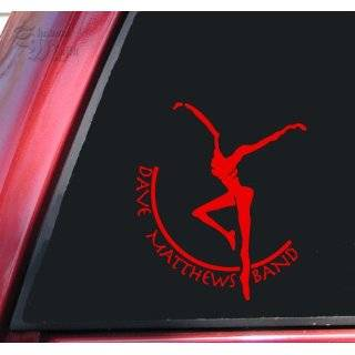 Fire Dancer   Dave Matthews Band Vinyl Decal Sticker   Red