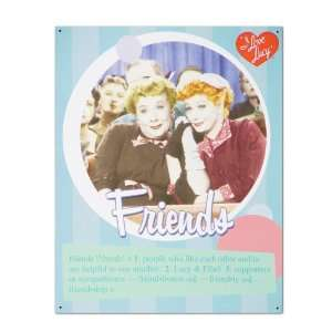 I Love Lucy Friends Retro Tin Sign