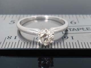 SI2 .54 ct Round Diamond Engagement wedding 14kt White Gold Ring 1/2