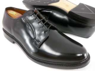 SHELL CORDOVAN Allen Edmonds LEEDS Black Plain Toe Oxfords 13 EEE 3E