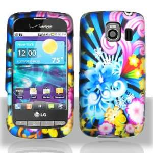 Blue Gold Pink Purple Wave Flower Rubberized Snap on
