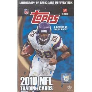 2010 Topps NFL Football Sports Trading Cards Hobby box