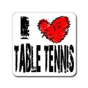 Love Heart TABLE TENNIS   Window Bumper Laptop Sticker Automotive