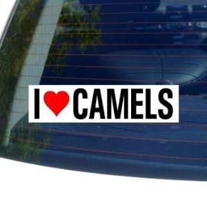 I Love Heart CAMELS   Window Bumper Sticker Automotive