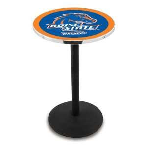 42 Boise State Bar Height Pub Table   Round Base Sports