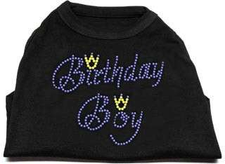 Dog Pet Puppy Birthday Boy Rhinestone Tee Shirt Apparel
