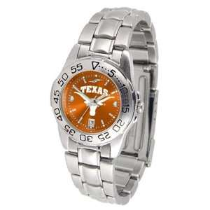 NCAA Texas Longhorns Ladies Anochrome Sport Watch with Stainless Steel