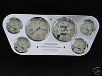 53 55 Ford Truck Dash Panel w/ 1808 Autometer Gauges
