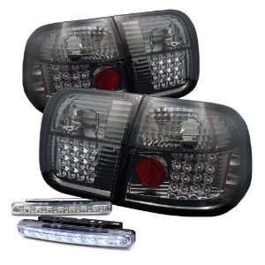 Eautolights 96 98 Honda Civic 4 Door LED Tail Lights + LED