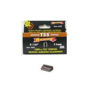 Arrow Fastener T25 5   Staples for T25, 7/16L, 5000/box