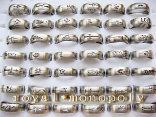 Wholesale Mixed lots of 100pieces stainless steel rings