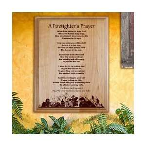 Firefighters Prayer Personalized Wood Plaque