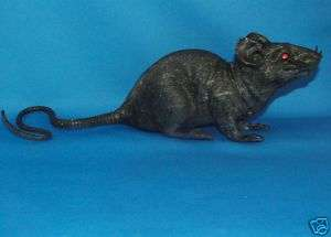 Huge Scary Giant Black Rubber Rat Mice Rodent Toy Mouse