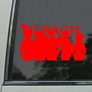 BLEACH Red Decal ICHIGO ANIME Car Truck Window Red Sticker