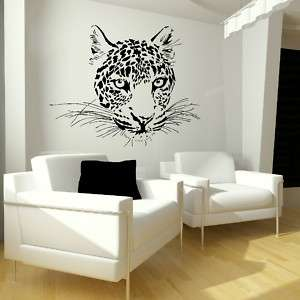 CHEETAH CAT CHILDREN WALL STICKER KIDS WALL DECAL giant vinyl transfer