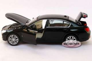 New BMW 750Li 132 Alloy Diecast Model Car With Sound and Light Black