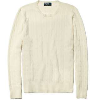 Polo Ralph Lauren Cashmere Cable Knit Sweater  MR PORTER
