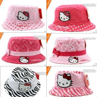 New Sweet Kids Toddler Girls Kitty Bucket Sun Hat Cap You Pick Style