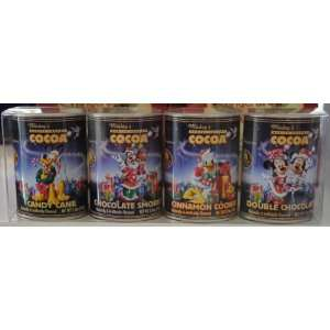 Disney World Christmas Mickey Minnie Cocoa in Tin Set of 4