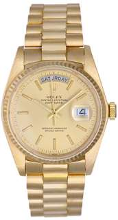 Rolex President Day Date Mens Watch 18038