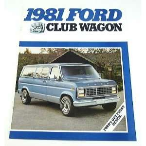 1981 81 Ford CLUB WAGON Van BROCHURE E150 E250 E350