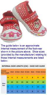 MM60 Girls Minnie Mouse Red Canvas Trainer Shoe Sizes 4, 5, 6, 7, 8, 9