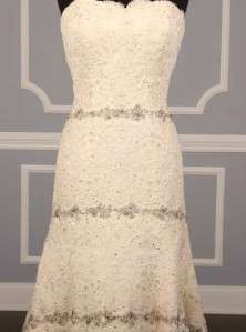 of Boston® 4023 Strapless Alencon Lace Bridal Gown Dress NEW