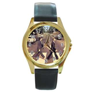 The Beatles Abbey Road Round Gold Wrist Watch Mens Gif