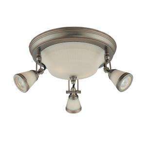 Hampton Bay 5 Light Semi Flush Mount Antique Pewter Ceiling Fixture