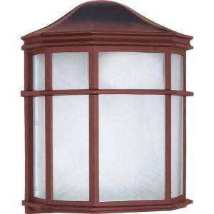 Glomar 1 Light Old Bronze 10 in. Cage Lantern Wall Fixture Die Cast