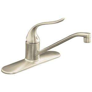 KOHLER Coralais Single Control Kitchen Sink Faucet with 10 in. Spout
