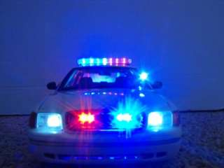 18 Unmarked White Police Car Lights Custom Model Ford Crown Victoria
