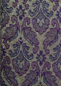 PASHMINA CASHMERE PURPLE PAISLEY SCARF Warm Wool Throw