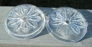 Old Antique Glass Curtain Tie Back Drawer Pull Plates
