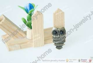 Fashion antique Retro Style silver Bronze Owl Ring